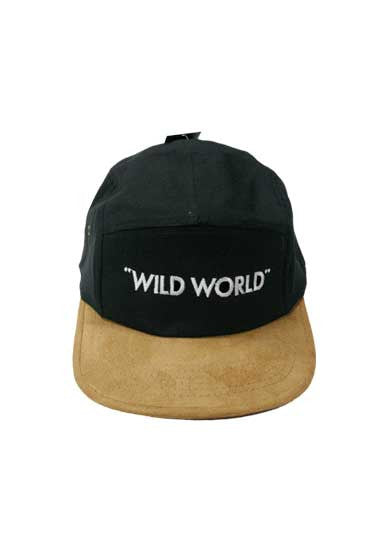 """WILD WORLD"" 5 PANEL CAP"
