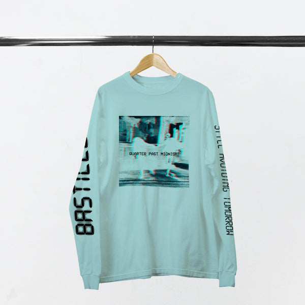QUARTER PAST MIDNIGHT TEAL L/SLEEVE T-SHIRT