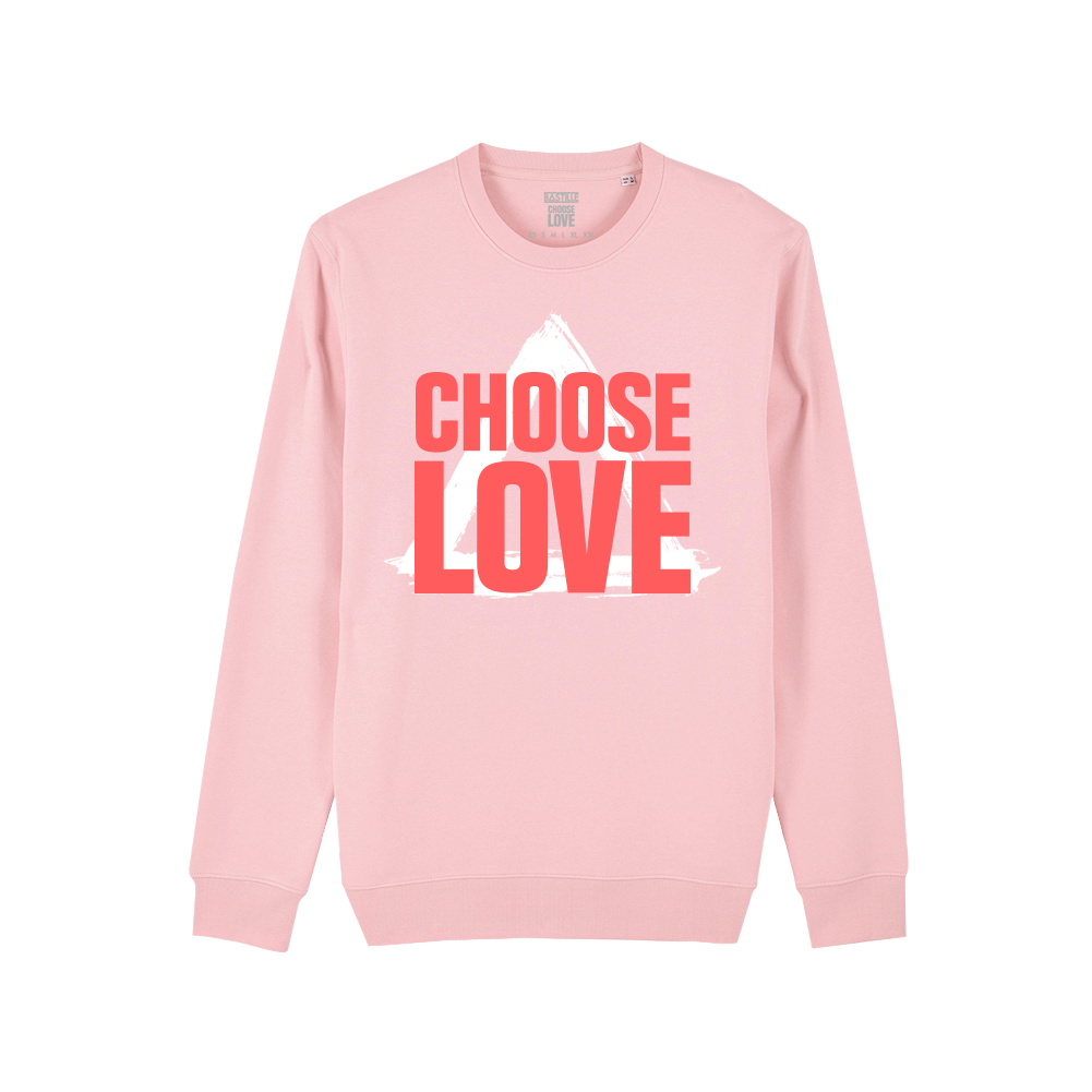 BASTILLE x CHOOSE LOVE PINK SWEAT & STICKER SHEET