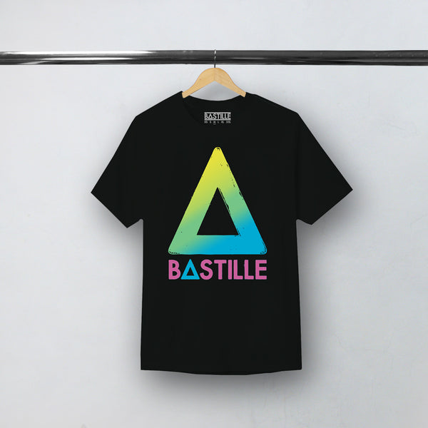 GRADIENT TRIANGLE LOGO BLACK TEE