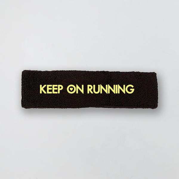 KEEP ON RUNNING BLACK SWEATBAND
