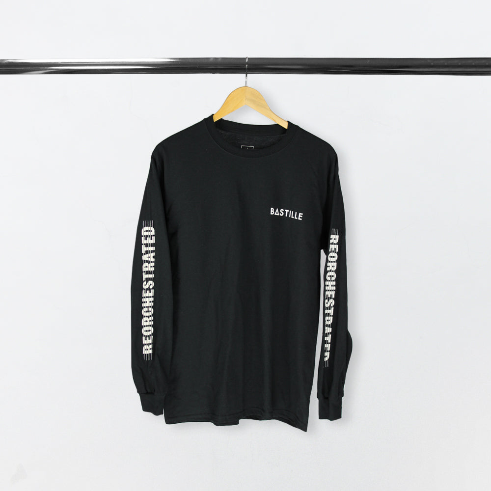 REORCHESTRATED LONG SLEEVE BLACK T-SHIRT