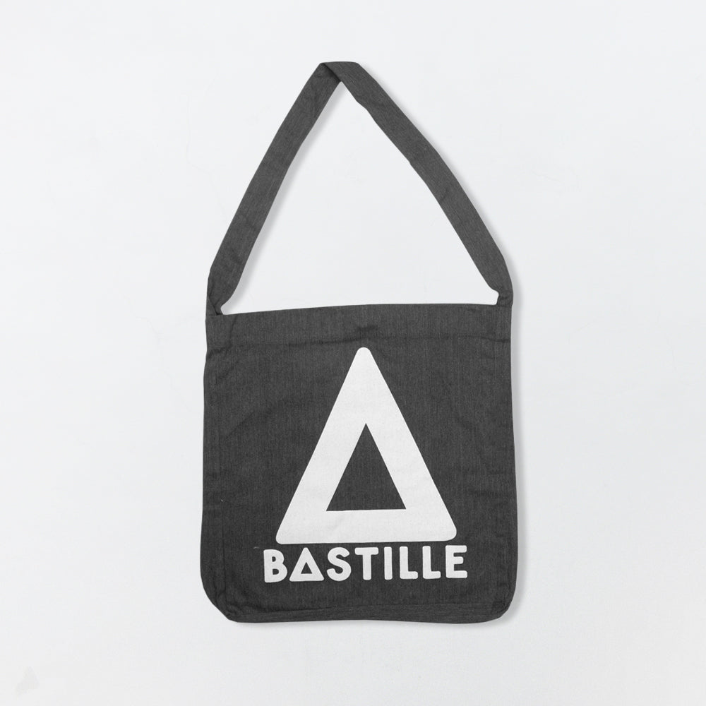 GREY TRIANGLE TOTE BAG