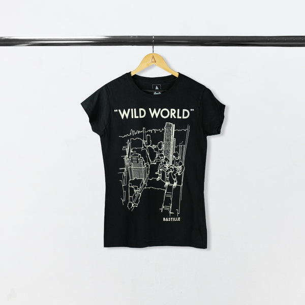 WILD WORLD WOMEN BLACK 2017 US TOUR TEE