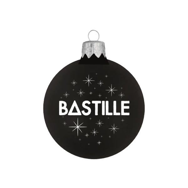 BASTILLE BLACK GLITTER BAUBLE