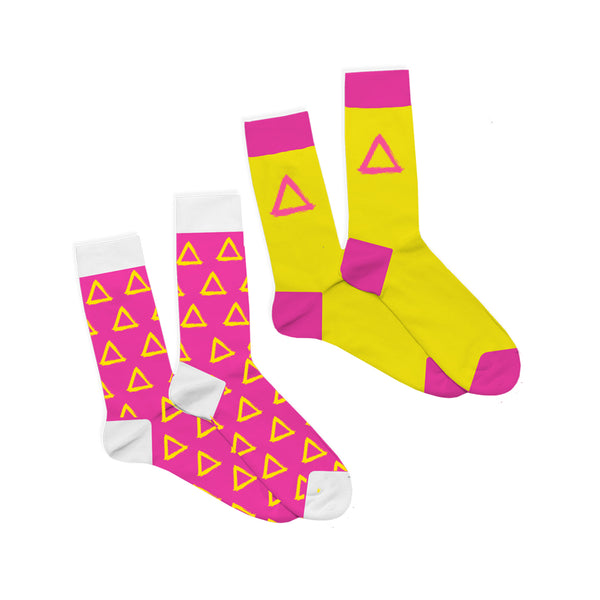 PACK OF 2 PAIR BASTILLE TRIANGLE SOCKS