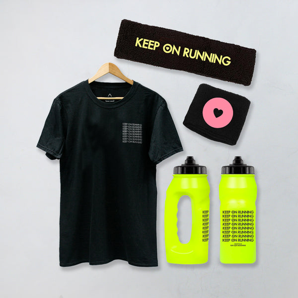 ULTIMATE KEEP ON RUNNING BUNDLE REFLECTIVE BLACK T-SHIRT