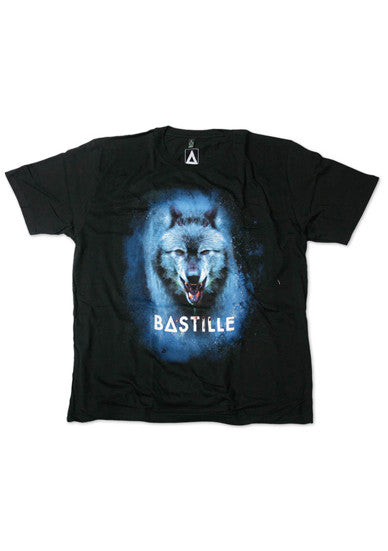 BASTILLE BLACK MENS WOLF T-SHIRT