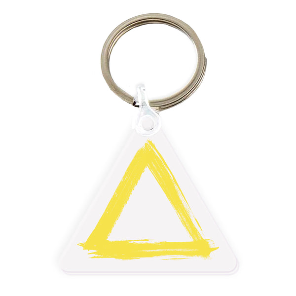 PAINTED TRIANGLE ACRYLIC KEYRING