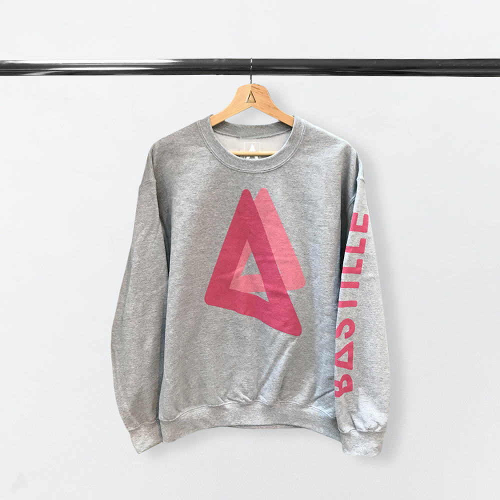 PINK TRIANGLE GREY SWEATSHIRT