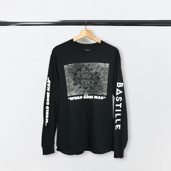 WORLD GONE MAD BLACK L/S T-SHIRT