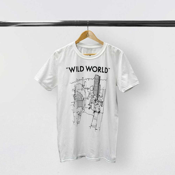 "BASTILLE MENS ""WILD WORLD"" DRAWING WHITE TEE"