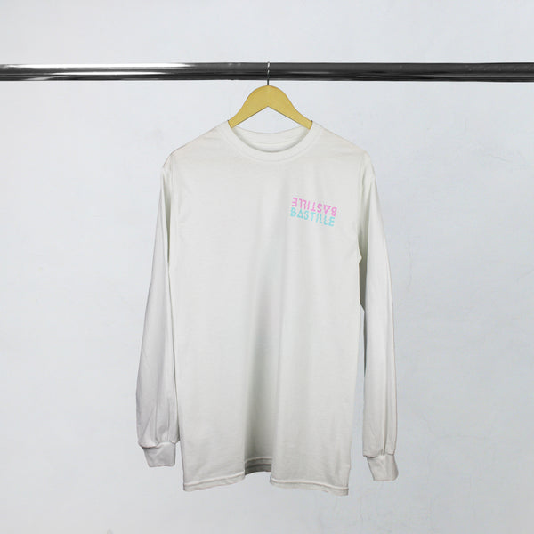 MIRROR LOGO WHITE L/SLEEVE T-SHIRT
