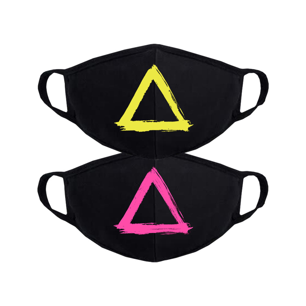 PAINTED TRIANGLE MASK SET