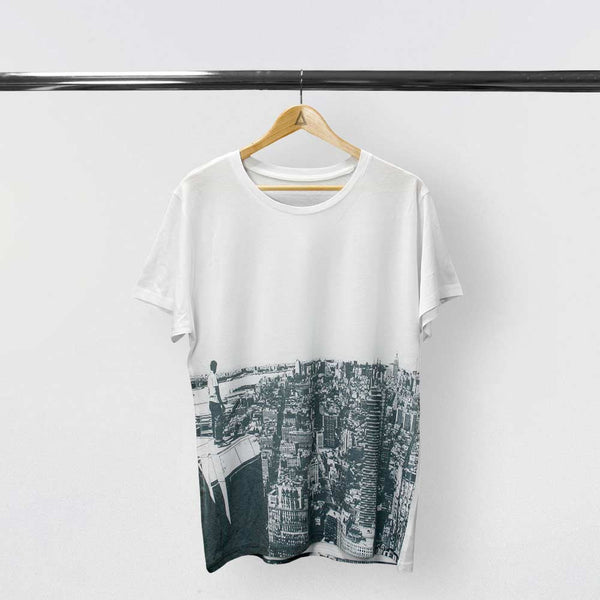 CITY SCAPE DYE SUB WHITE T-SHIRT
