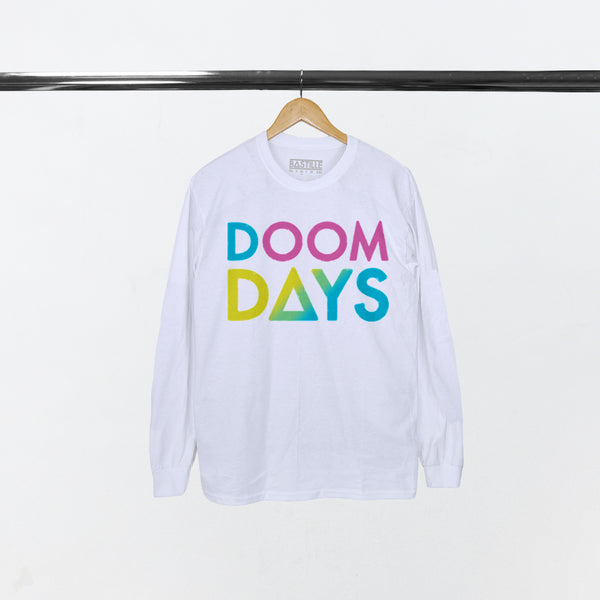 RAINBOW DOOM DAYS WHITE L/S T-SHIRT