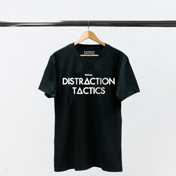 DISTRACTION TACTICS BLACK T-SHIRT