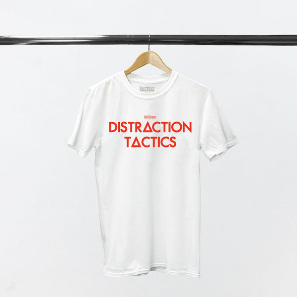 DISTRACTION TACTICS WHITE T-SHIRT