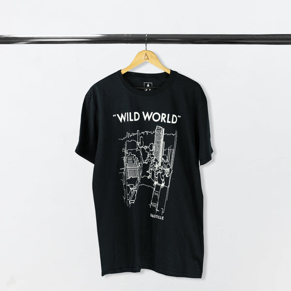 WILD WORLD MEN BLACK 2017 EU TOUR TEE
