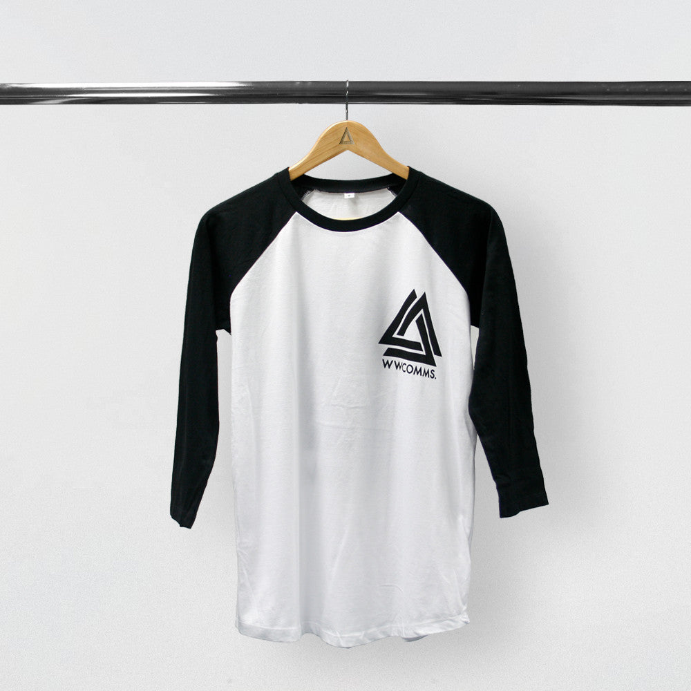 T shirt white black - Wwcomms Black White Baseball T Shirt