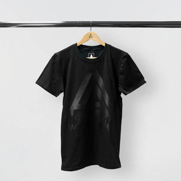 DRIPPING WWCOMMS BLACK VINYL TEE