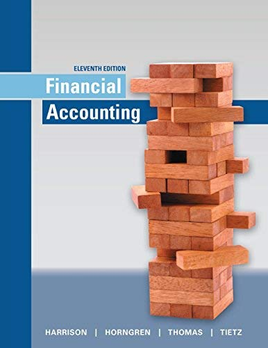 Textbook: Financial Accounting (11th Edition) by Harrison, Walter T. Jr.