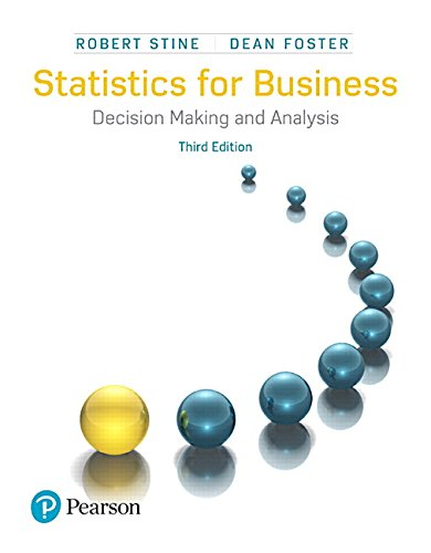 Textbook: Statistics for Business: Decision Making and Analysis (3rd Edition) by Robert Stine