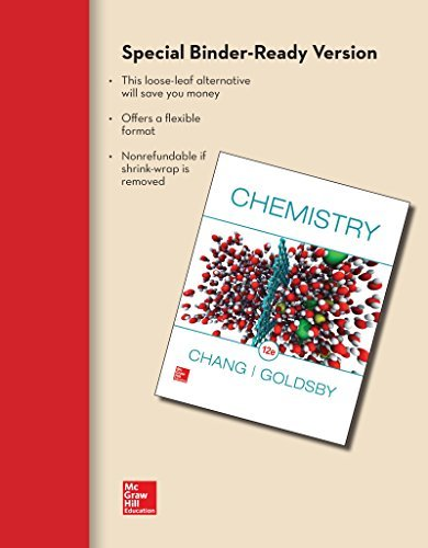 Textbook: Chemisty (Loose-leaf) (12th Edition) by Chang, Raymond