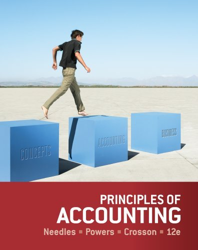 Textbook: Principles of Accounting (12th Edition) by Beleverd E. Needles