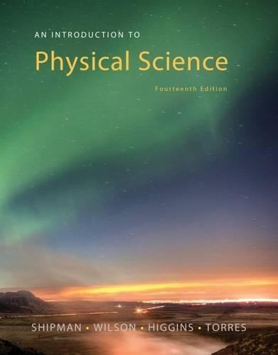 Textbook: An Introduction to Physical Science (14th Edition) by Shipman, James