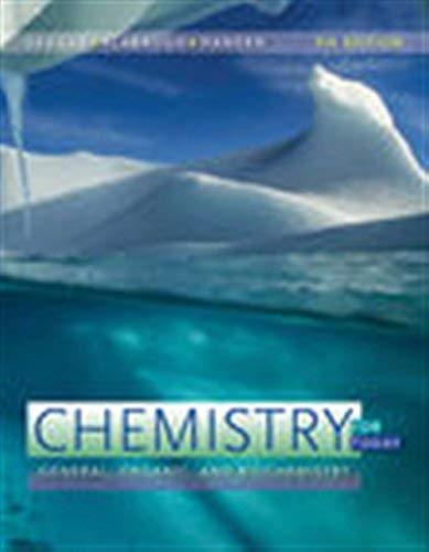 Textbook: Chemistry for Today: General, Organic, and Biochemistry by Hansen, Maren S.