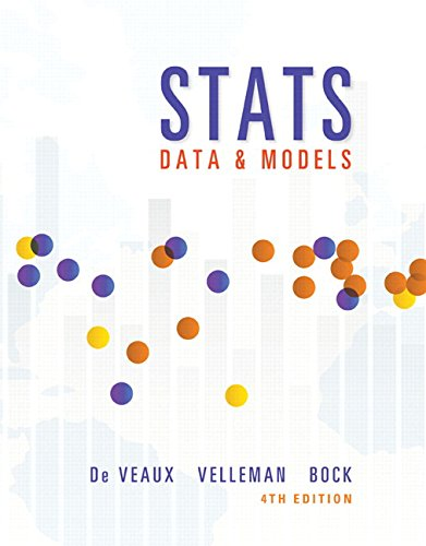 Textbook: Stats: Data and Models (4th Edition) by Richard D. De Veaux
