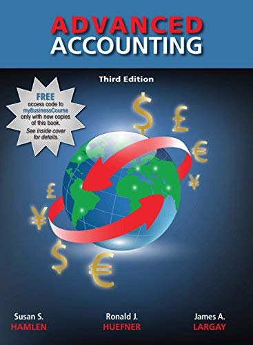 Textbook: Advanced Accounting (3rd Edition) by Hamlen, Susan S.