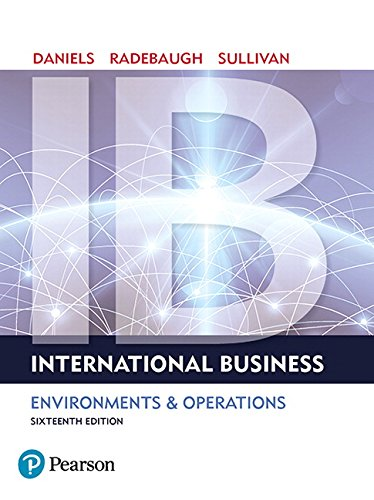 Textbook: International Business (16th Edition) by Sullivan, Daniel