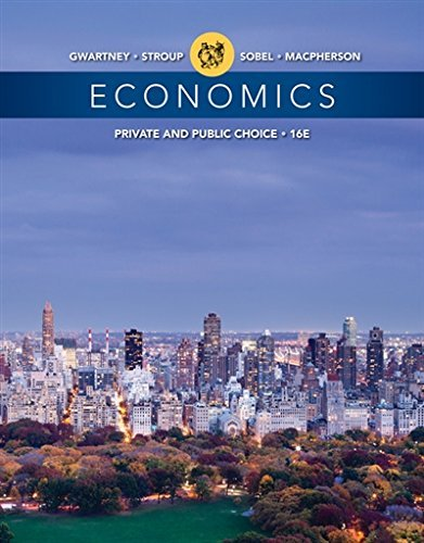 Textbook: Economics: Private and Public Choice (16th Edition) by James D. Gwartney