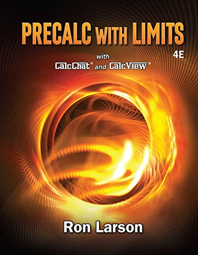 Textbook: Precalculus with Limits (4th Edition) by Ron Larson