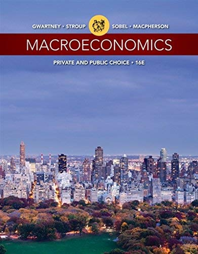 Textbook: Macroeconomics: Private and Public Choice (16th Edition) by James D. Gwartney