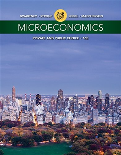 Textbook: Microeconomics: Private and Public Choice (16th Edition) by Gwartney, James D.