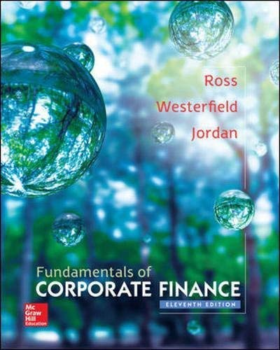 Textbook: Fundamentals of Corporate Finance (11th Edition) by Stephen A. Ross