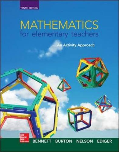 Textbook: Mathematics for Elementary Teachers: An Activity Approach by Ediger, Joseph J.