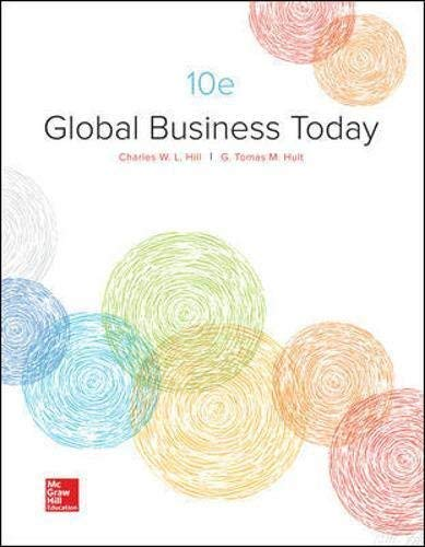 Textbook: Global Business Today (10th Edition) by Charles W. L. Hill