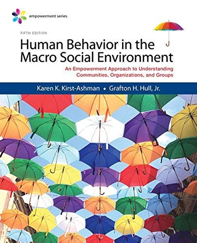 Textbook: Empowerment Series: Human Behavior in the Macro Social Environment (MindTap Course List) by Hull, Jr. Grafton H.