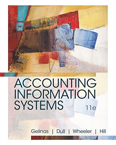 Textbook: Accounting Information Systems (11th Edition) by Ulric J. Gelinas