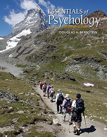 Textbook: Essentials of Psychology (7th Edition) by Bernstein, Douglas