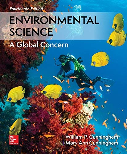 Textbook: Environmental Science (14th Edition) by William P Cunningham