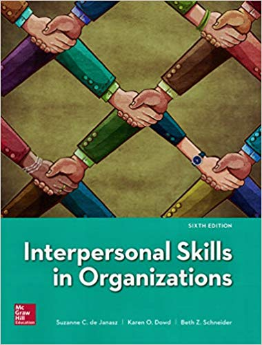 Interpersonal Skills in Organizations (6th Edition)
