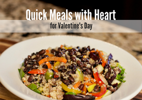 quick meals with heart valentine's day