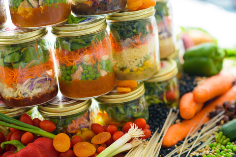 Healthy Meal Plan Jars