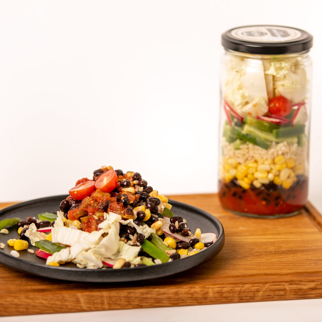 Black Bean Taco Meal in a Jar