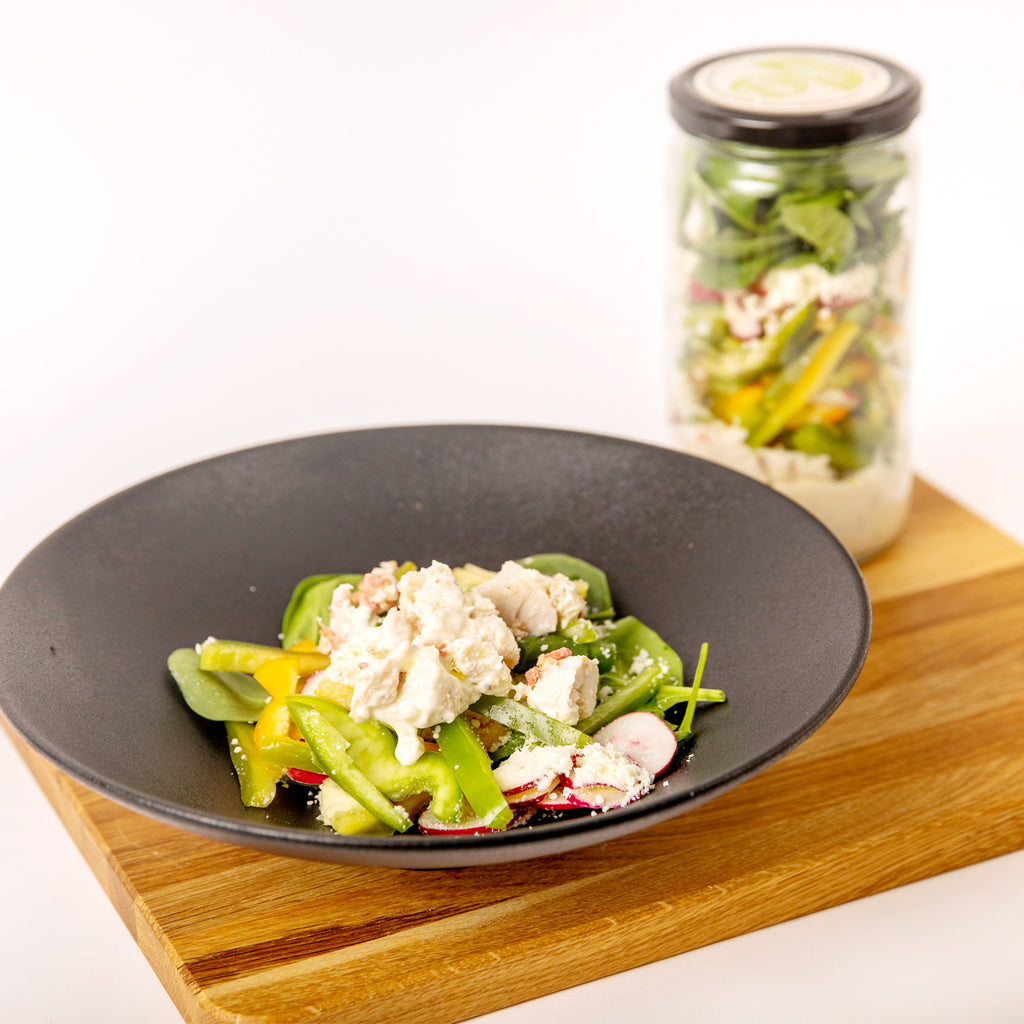 Keto Chicken Caesar Meal in a Jar